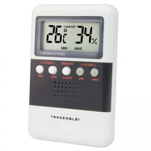 TERMOHYGROMETRO DIGITAL, MIN/MAX, 25 A 95% H, 0 A 50ºC, TRACEABLE