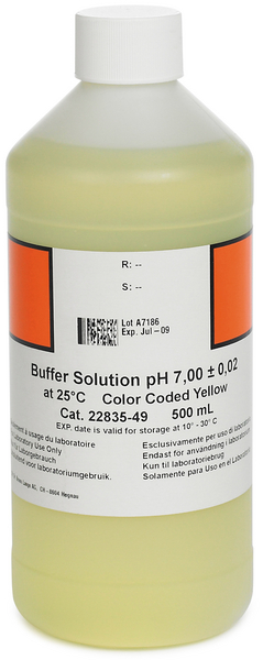 SOLUCIÓN BUFFER, PH 7.00 (NIST), CÓDIGO DE COLOR AMARILLO, 500 ML